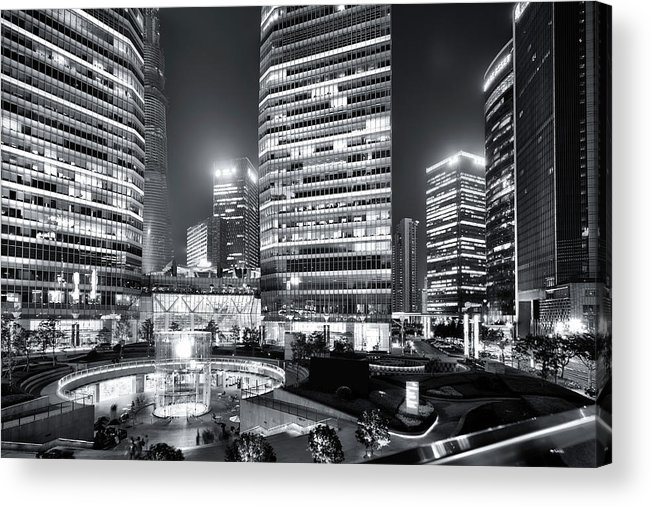 Financial District Acrylic Print featuring the photograph Shanghai by Photographer - Rob Smith
