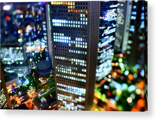 Built Structure Acrylic Print featuring the photograph Shinjuku by Takashi Kitajima