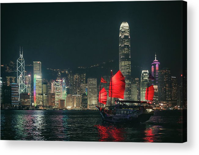 Outdoors Acrylic Print featuring the photograph Splendid Asian City, Hong Kong by D3sign
