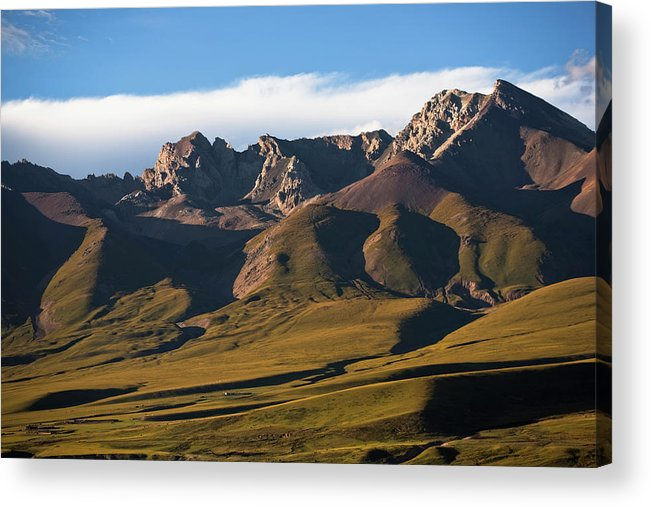 Scenics Acrylic Print featuring the photograph Steppe Valley With Surrounding Peaks by Merten Snijders