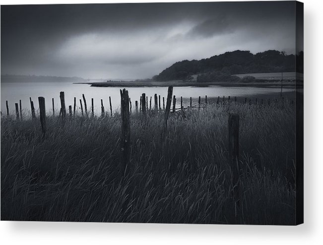 Wind Acrylic Print featuring the photograph Stormy weather over an Estuary in Brittany, France by Kristian Bell