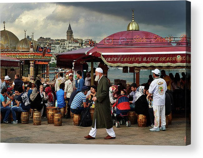 Istanbul Acrylic Print featuring the photograph Street Food On The Golden Horn, Istanbul by Andrea Pistolesi
