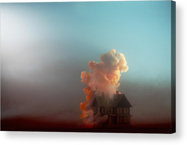 Model House Acrylic Print featuring the photograph Submerged House by Paul Taylor