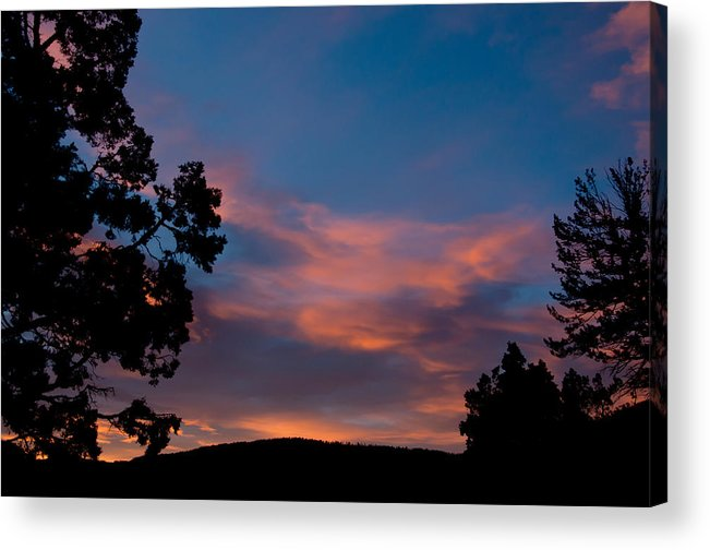Mammoth Hot Springs Acrylic Print featuring the photograph Sunrise Over Mammoth Campground by Frank Madia