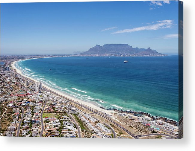Scenics Acrylic Print featuring the photograph Table Mountain Lies In The Distance Of by Peter Chadwick