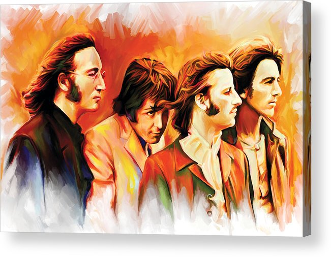 The Beatles Paintings Acrylic Print featuring the painting The Beatles Artwork by Sheraz A