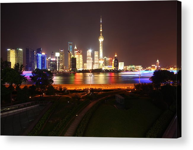Tranquility Acrylic Print featuring the photograph The Bund Img_2968 by Xiaozhu Yuan