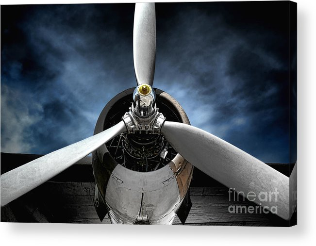 Plane Acrylic Print featuring the photograph The Mission by Olivier Le Queinec