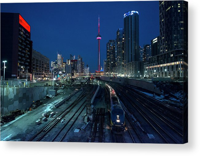 Train Acrylic Print featuring the photograph The Railway Lands Toronto by This Image