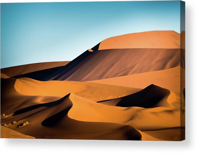 Sand Dune Acrylic Print featuring the photograph The Red Sand Dunes In Namibia by José Gieskes Fotografie