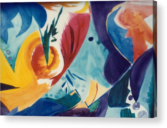 Abstract Acrylic Print featuring the painting The Seed by Phoenix Simpson