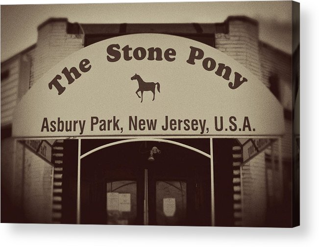 The Stone Pony Vintage Asbury Park New Jersey Acrylic Print featuring the photograph The Stone Pony Vintage Asbury Park New Jersey by Terry DeLuco