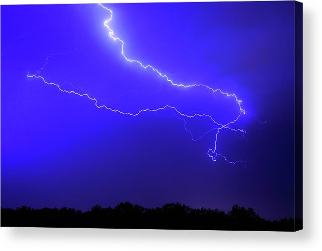 Thunderstorm Acrylic Print featuring the photograph Thunderstorm In The Rain by Republica