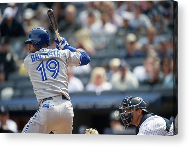 American League Baseball Acrylic Print featuring the photograph Toronto Blue Jays V New York Yankees by Rob Tringali