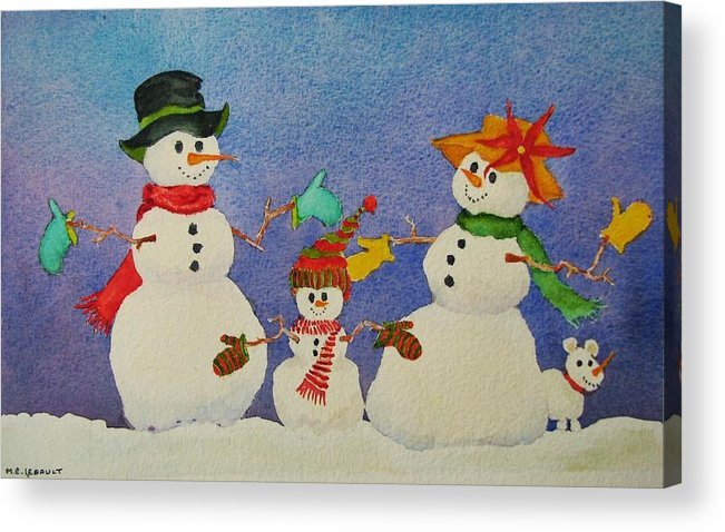 Christmas Card Acrylic Print featuring the painting Tres Chic by Mary Ellen Mueller Legault