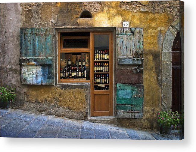 Italy Acrylic Print featuring the photograph Tuscany Wine shop by Al Hurley