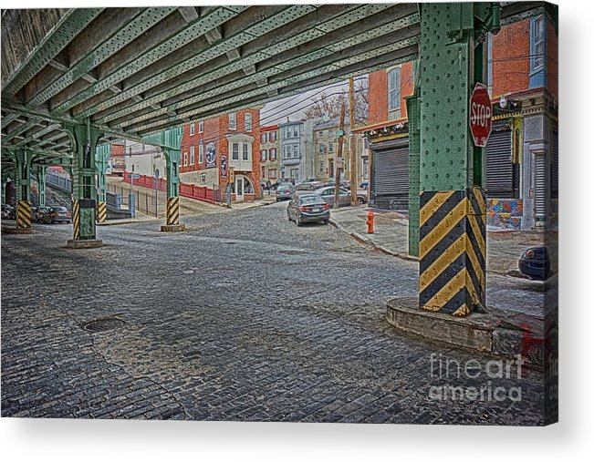 Manayunk Acrylic Print featuring the photograph Under The El Manayunk by Jack Paolini
