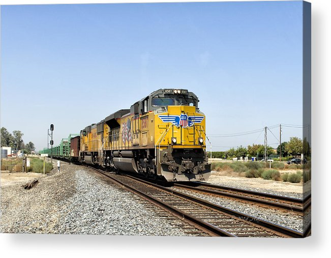 California Acrylic Print featuring the photograph Up 8587 Southbound From Traver by Jim Thompson