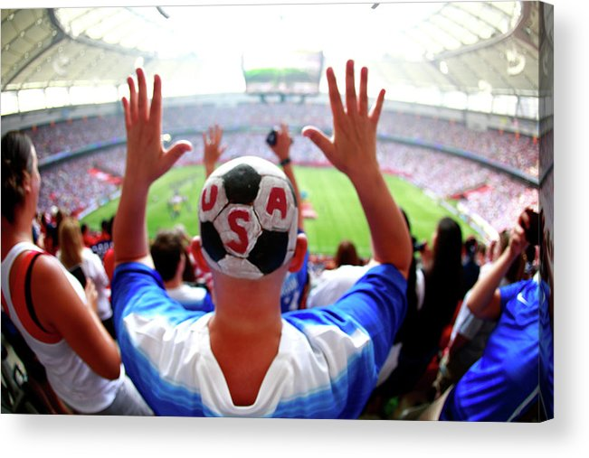 National Team Acrylic Print featuring the photograph Usa V Japan Final - Fifa Womens World by Jeff Vinnick