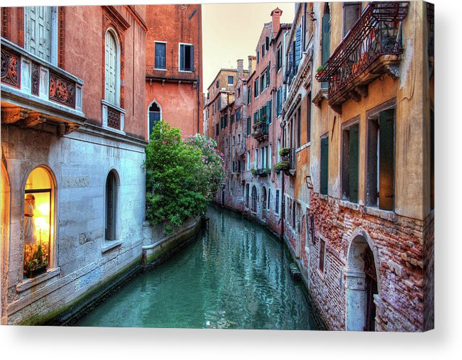 Tranquility Acrylic Print featuring the photograph Venice Canals by Emad Aljumah