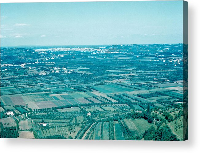 Vicenza Acrylic Print featuring the photograph Vicenza Italy 1962 by Cumberland Warden