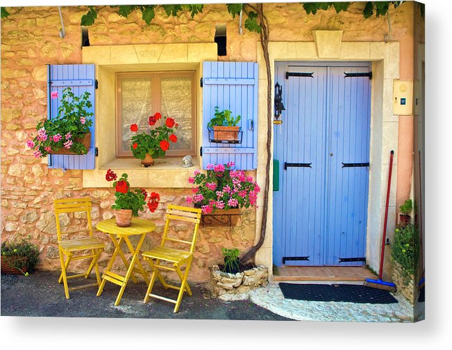 Outdoors Acrylic Print featuring the photograph Village House In The Tiny Luberon by Barbara Van Zanten