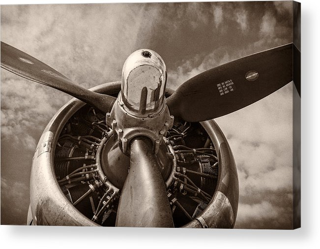3scape Acrylic Print featuring the photograph Vintage B-17 by Adam Romanowicz