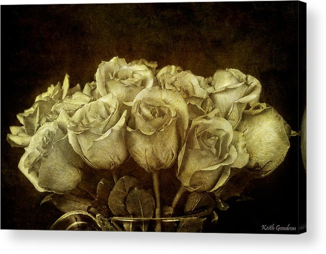 Bouquet Acrylic Print featuring the photograph Vintage Roses by Keith Gondron