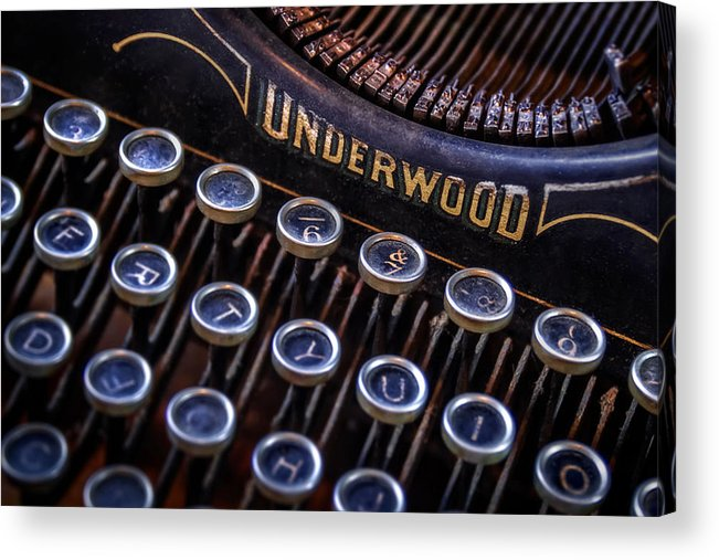 Retro Acrylic Print featuring the photograph Vintage Typewriter 2 by Scott Norris