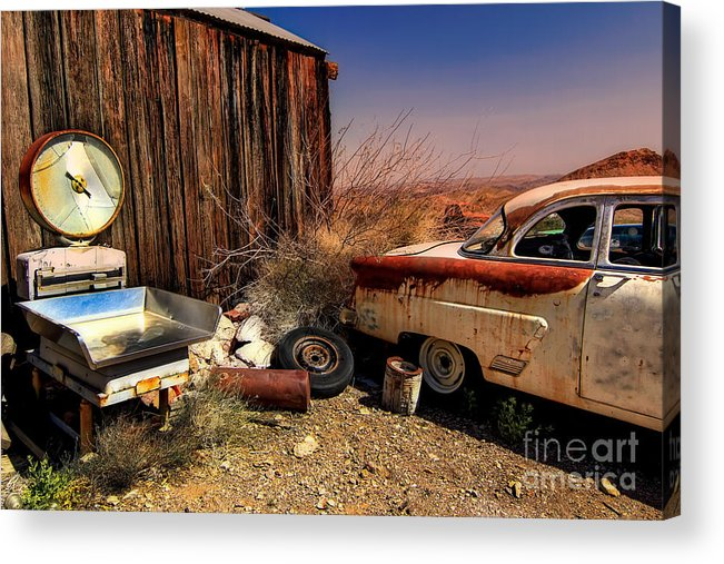 Car Acrylic Print featuring the photograph Waiting on a Woman by Brenda Giasson