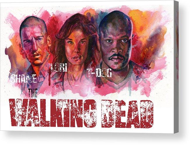 Walking Dead Acrylic Print featuring the painting Walking Dead Dead by Ken Meyer jr