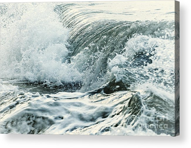 Wave Acrylic Print featuring the photograph Waves in stormy ocean by Elena Elisseeva