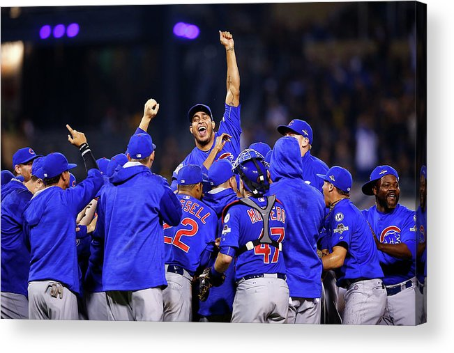 Playoffs Acrylic Print featuring the photograph Wild Card Game - Chicago Cubs V by Jared Wickerham