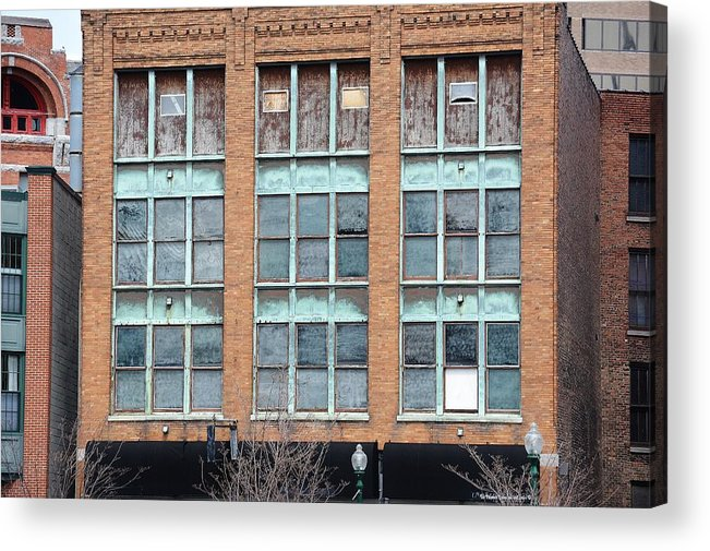 Building Acrylic Print featuring the photograph Windows by Lisa Kane