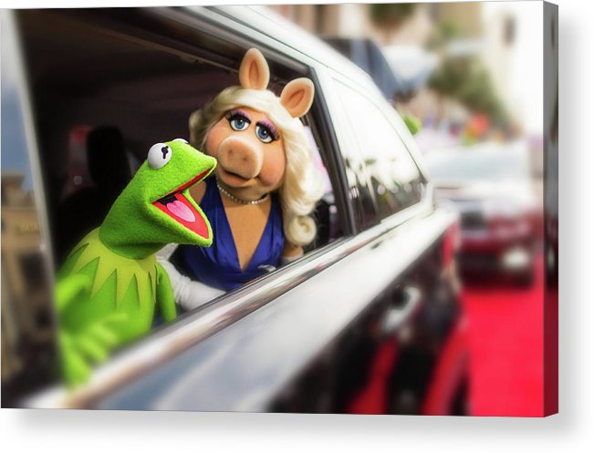 Horizontal Acrylic Print featuring the photograph World Premiere Of Disneys Muppets Most by Christopher Polk