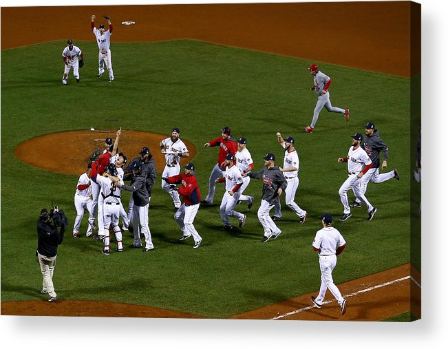 Playoffs Acrylic Print featuring the photograph World Series - St Louis Cardinals V by Jamie Squire