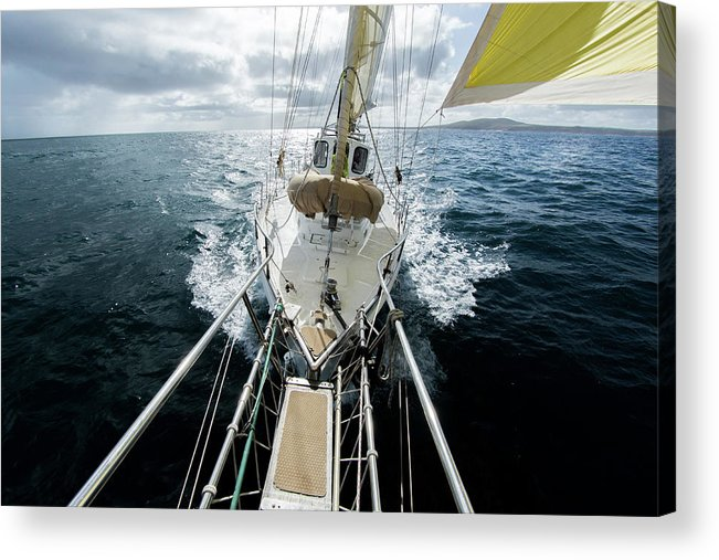 Sailboat Acrylic Print featuring the photograph Yacht Sailing On The Southern Ocean by John White Photos