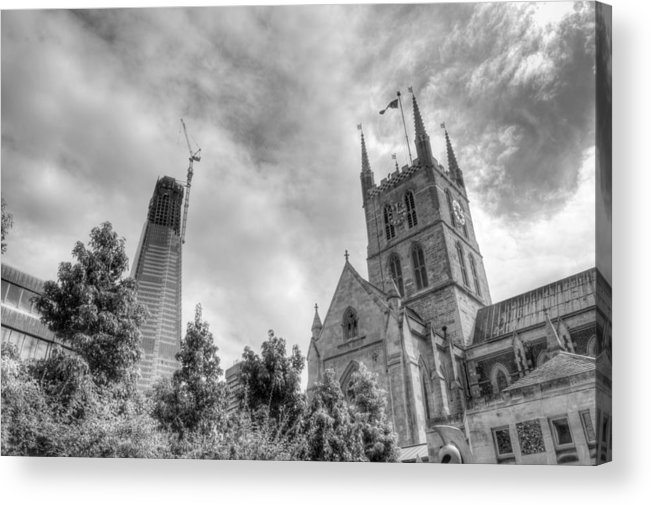 Shard Acrylic Print featuring the photograph New and Old by Chris Day