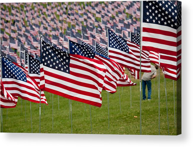 911 Acrylic Print featuring the photograph 911 Memorial 1 by Mark Braun