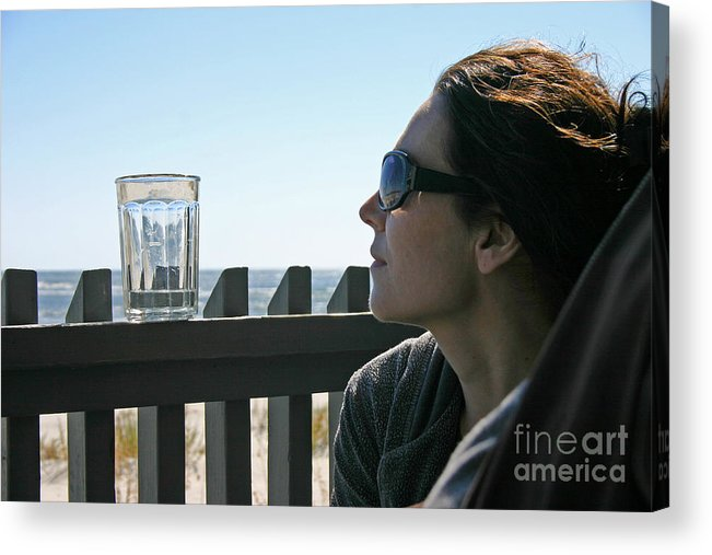 Beach Acrylic Print featuring the photograph Glass of Water by Beebe Barksdale-Bruner