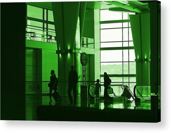 Green Acrylic Print featuring the photograph Green Airport by Ron Morales