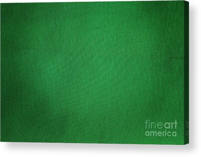 Background Acrylic Print featuring the photograph Green Grunge Textile by Henrik Lehnerer