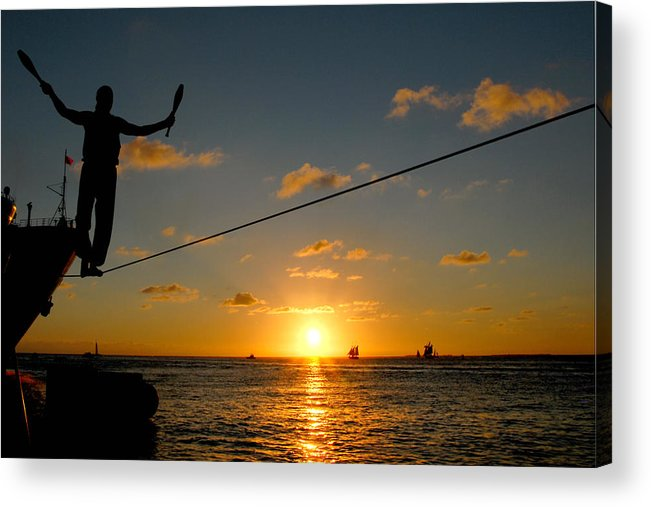 Key West Acrylic Print featuring the photograph Key West Sunset Performance by John Banegas