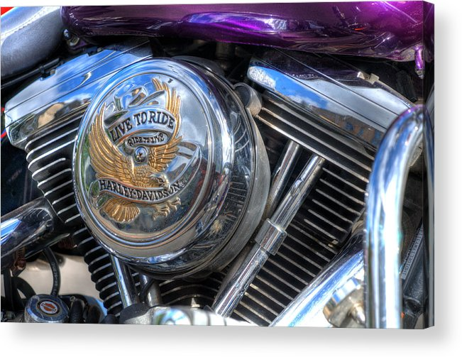 Harley Davidson Acrylic Print featuring the photograph Live To Ride by Steve Purnell