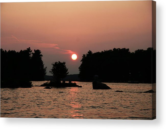 Water Acrylic Print featuring the photograph Muskoka Sunset by Dr Carolyn Reinhart