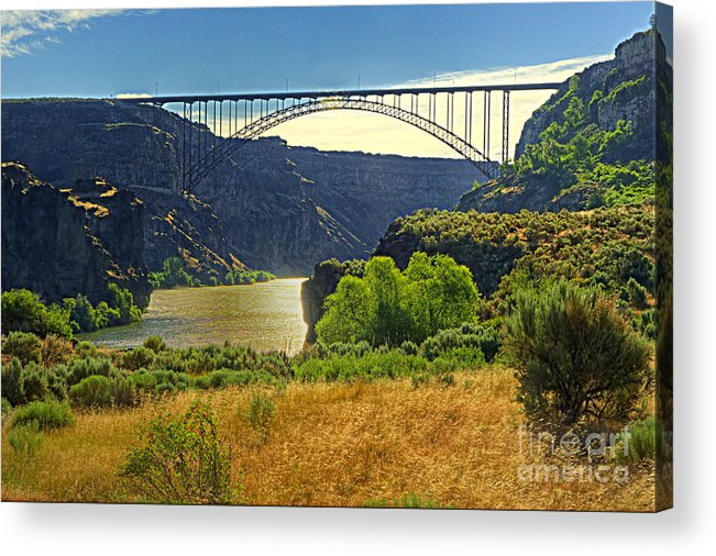 Dhr Images Acrylic Print featuring the photograph Spanning the Snake River by Dennis Hammer