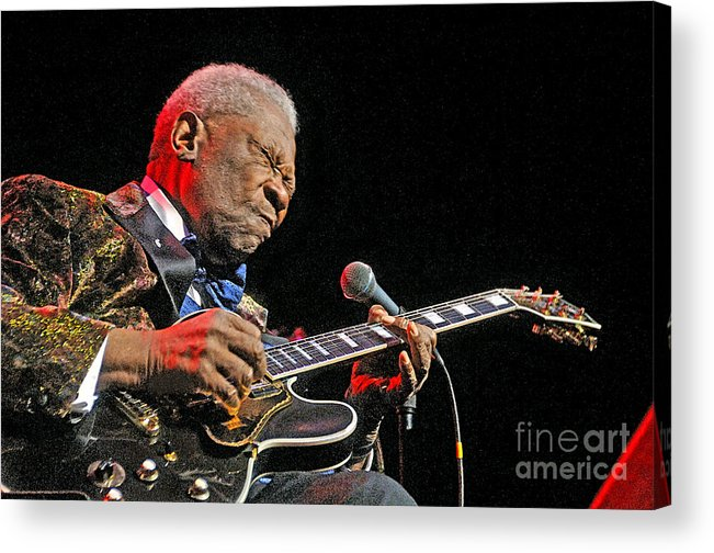 Bb King Acrylic Print featuring the photograph The Legendary BB King by Gib Martinez