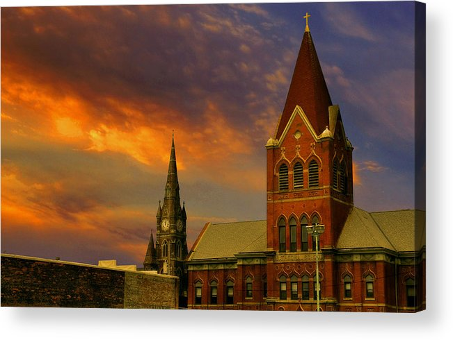 Church Acrylic Print featuring the photograph Towers Of Faith by Brian Fisher