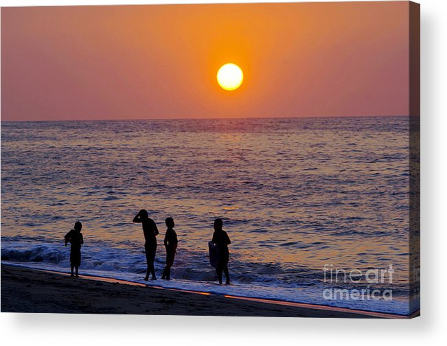 Children Acrylic Print featuring the photograph Tropical Pacific Childhood by Gib Martinez