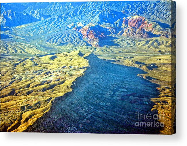 Red Rocks Acrylic Print featuring the photograph West Of Las Vegas Planet Earth by James BO Insogna